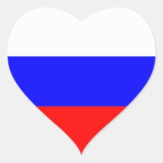 russia heart sticker