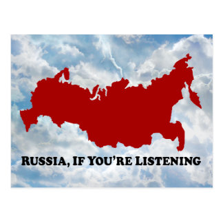 Russia If Listening - Post Card