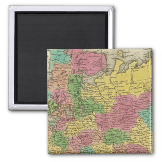 Russia In Europe 2 2 Inch Square Magnet