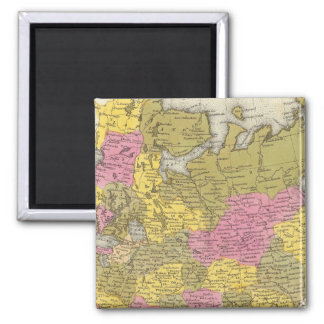 Russia In Europe 2 Inch Square Magnet