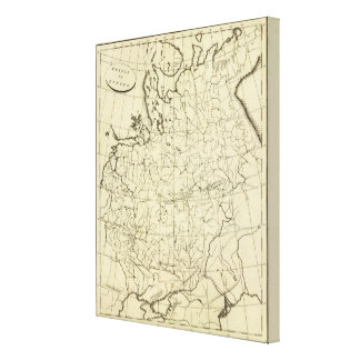Russia in Europe outline Canvas Print