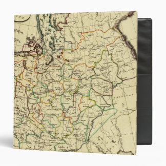 Russia in Europe with boundaries outlined 3 Ring Binder