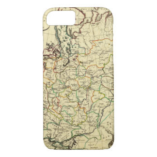 Russia in Europe with boundaries outlined iPhone 7 Case