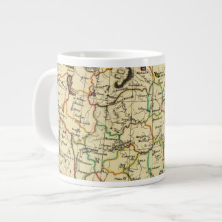 Russia in Europe with boundaries outlined Large Coffee Mug
