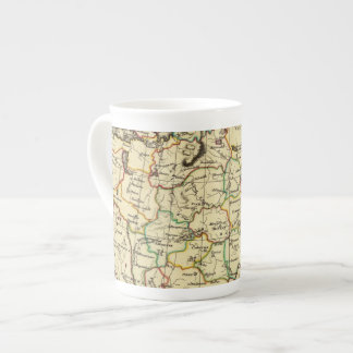Russia in Europe with boundaries outlined Tea Cup