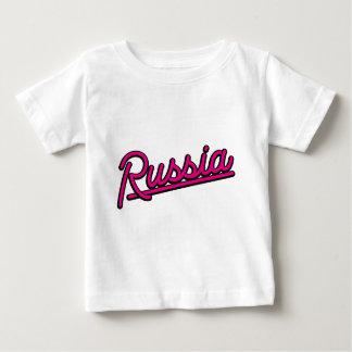 Russia in magenta baby T-Shirt