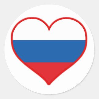 Russia Love Classic Round Sticker