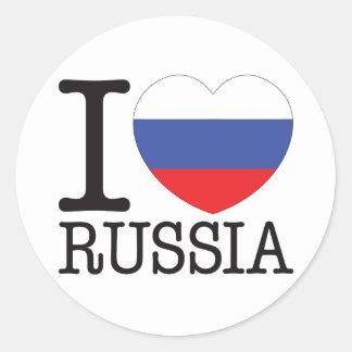 Russia Love v2 Classic Round Sticker
