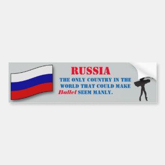 Russia Manly Ballet Sticker Car Bumper Sticker