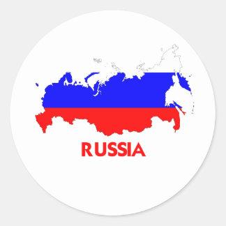 RUSSIA MAP CLASSIC ROUND STICKER