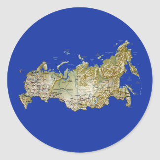 Russia Map Sticker