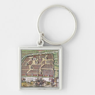 RUSSIA: MOSCOW, 1591 Silver-Colored SQUARE KEYCHAIN