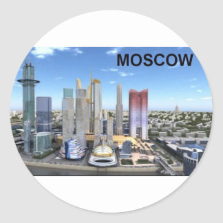 Russia Moscow City (Kan.K) Classic Round Sticker