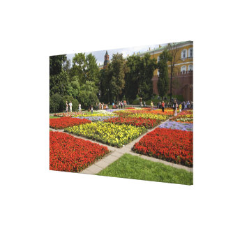 Russia, Moscow, Red Square, Alexandrovsky Canvas Print