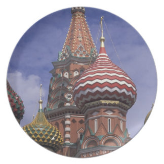 Russia, Moscow, Red Square. famous onions of St. Melamine Plate