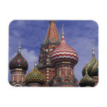 Russia, Moscow, Red Square. famous onions of St. Rectangular Photo Magnet
