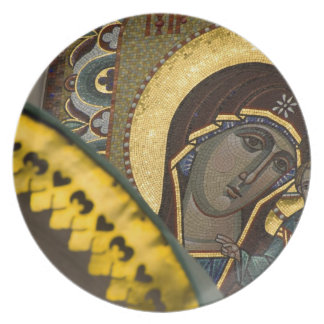 Russia, Moscow, Red Square. Our Lady of Kazan Plate