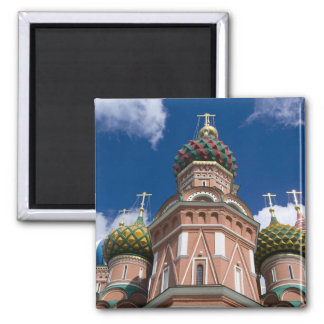 Russia, Moscow, Red Square. St. Basil's 2 2 Inch Square Magnet