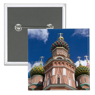 Russia, Moscow, Red Square. St. Basil's 2 2 Inch Square Button