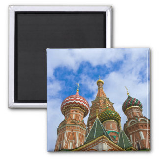 Russia, Moscow, Red Square, St. Basil's 2 Inch Square Magnet