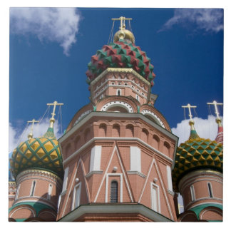 Russia, Moscow, Red Square. St. Basil's 2 Large Square Tile