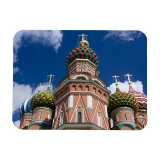 Russia, Moscow, Red Square. St. Basil's 2 Rectangular Photo Magnet