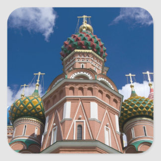 Russia, Moscow, Red Square. St. Basil's 2 Square Sticker