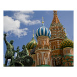 Russia, Moscow, Red Square. St. Basil's 3 Posters