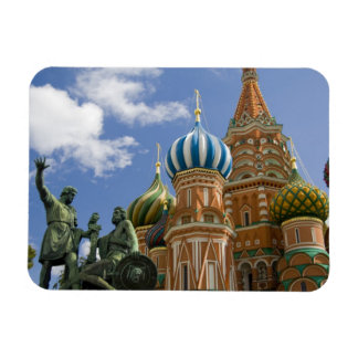 Russia, Moscow, Red Square. St. Basil's 3 Rectangular Photo Magnet