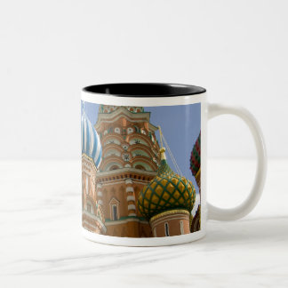 Russia, Moscow, Red Square. St. Basil's 3 Two-Tone Coffee Mug