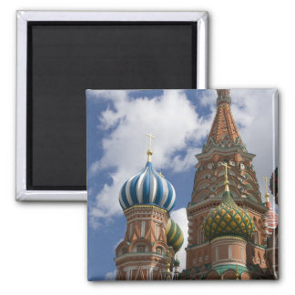 Russia, Moscow, Red Square. St. Basil's 4 2 Inch Square Magnet