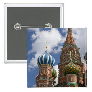 Russia, Moscow, Red Square. St. Basil's 4 2 Inch Square Button