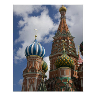 Russia, Moscow, Red Square. St. Basil's 4 Poster