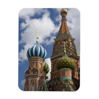 Russia, Moscow, Red Square. St. Basil's 4 Rectangular Photo Magnet