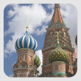 Russia, Moscow, Red Square. St. Basil's 4 Square Sticker