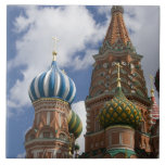 Russia, Moscow, Red Square. St. Basil's 4 Tiles
