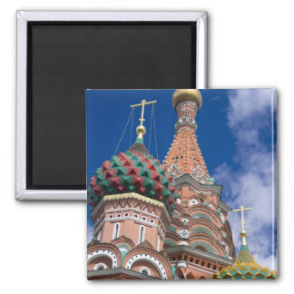 Russia, Moscow, Red Square. St. Basil's 5 2 Inch Square Magnet