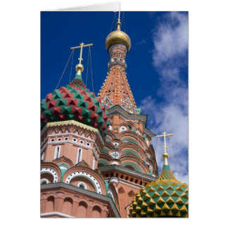 Russia, Moscow, Red Square. St. Basil's 5 Card