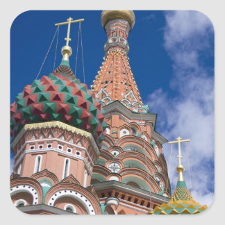 Russia, Moscow, Red Square. St. Basil's 5 Square Sticker