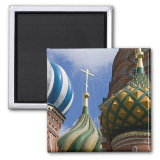Russia, Moscow, Red Square. St. Basil's 2 Inch Square Magnet
