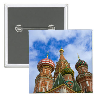 Russia, Moscow, Red Square, St. Basil's Pinback Button