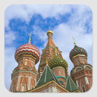 Russia, Moscow, Red Square, St. Basil's Square Sticker