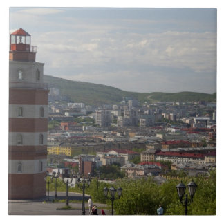 Russia, Murmansk. Largest city north of the Ceramic Tile