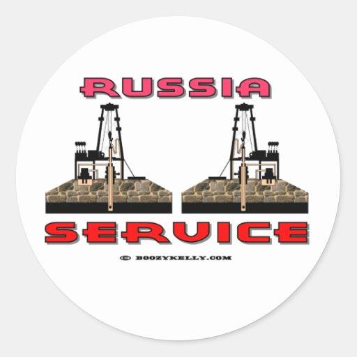 Russia Oil Field Service, Oil Rig Sticker