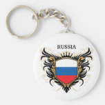 Russia [personalize] basic round button keychain
