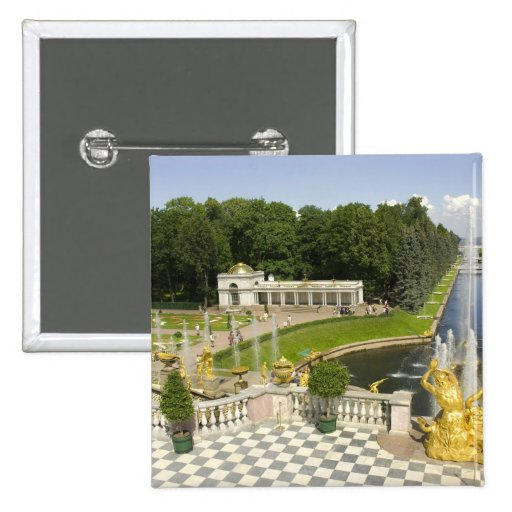 Russia. Petrodvorets. Peterhof Palace. Peter the 2 Inch Square Button