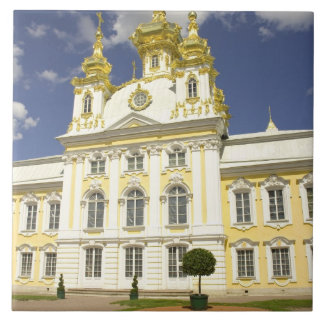 Russia. Petrodvorets. Peterhof Palace. Peter the 2 Tile