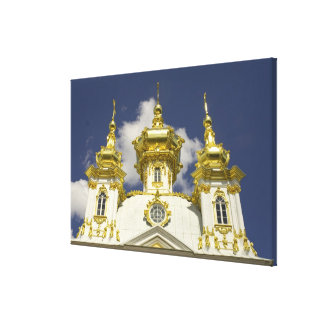 Russia. Petrodvorets. Peterhof Palace. Peter the 4 Gallery Wrapped Canvas