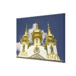 Russia. Petrodvorets. Peterhof Palace. Peter the 4 Canvas Print