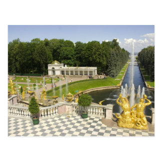 Russia. Petrodvorets. Peterhof Palace. Peter the Postcard